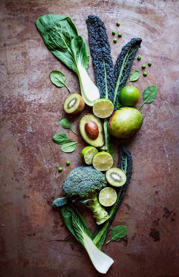 Stilleben gröna grönsaker