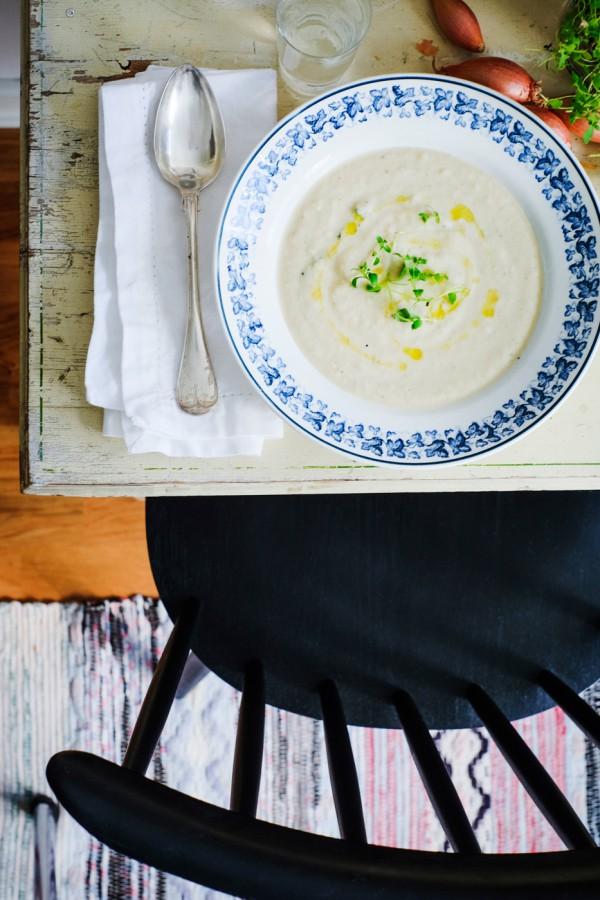 Blomkålssoppa med tryffelolja