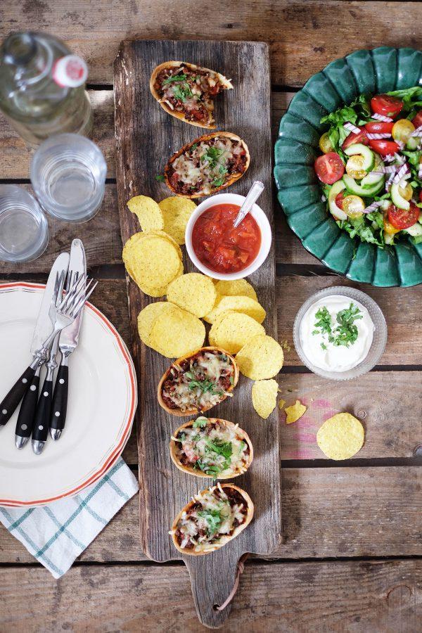 Gratinerade tacos
