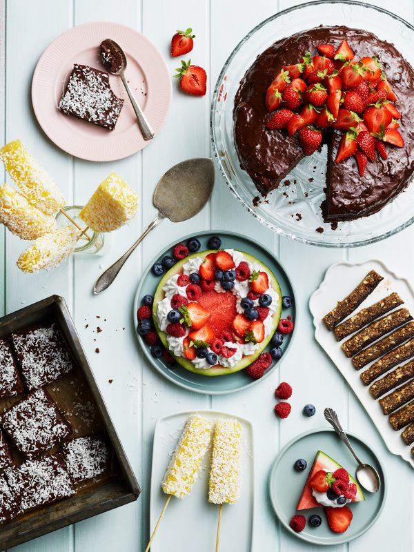 Samlingsbild desserter från kokboken Mativation